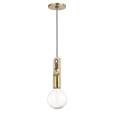 Humble 1-Light Mini Pendant Finish: Aged Brass