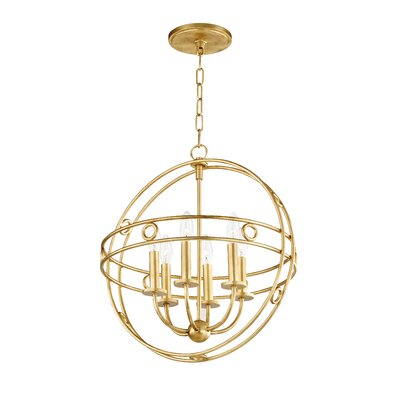 Lehto 6-Light Foyer Pendant Finish: Gold Leaf