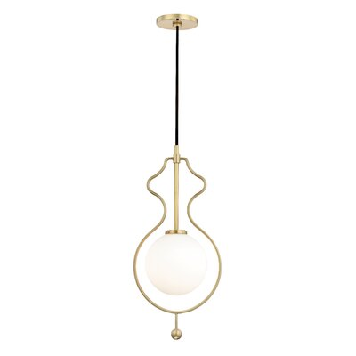 Huffine 1-Light LED Geometric Pendant Finish: Aged Brass