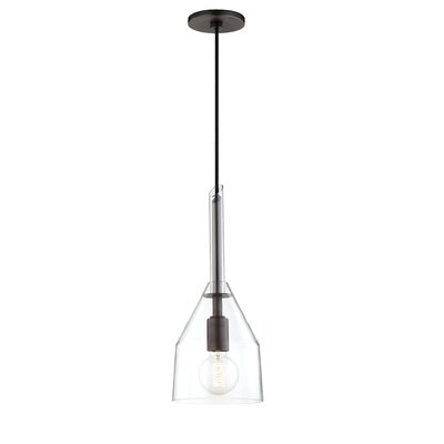 Humberto 1-Light Inverted Pendant Finish: Old Bronze, Size: 23.75 H x 9.5 W x 9.5 D