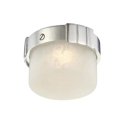 Googe 1-Light LED Flush Mount Fixture Finish: Polished Nickel