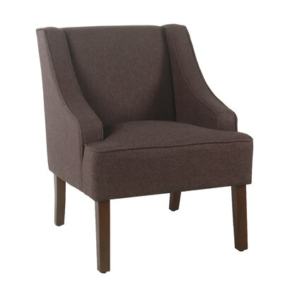 Lacombe Swoop Armchair Upholstery: Espresso
