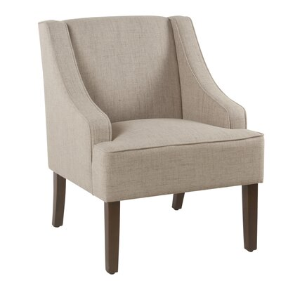 Lacombe Swoop Armchair Upholstery: Tan