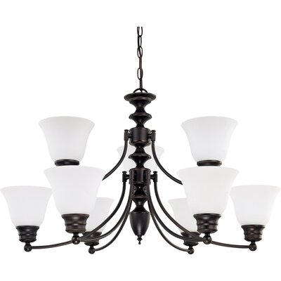 Katzer 9-Light Candle-Style Chandelier Shade Color: White