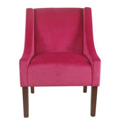 Lacrescenta Swoop Armchair Upholstery: Pink