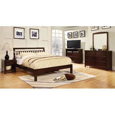 Hervey Bay Panel Bed Size: King, Color: Dark Walnut