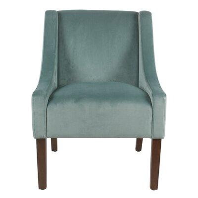 Lacrescenta Swoop Armchair Upholstery: Aqua
