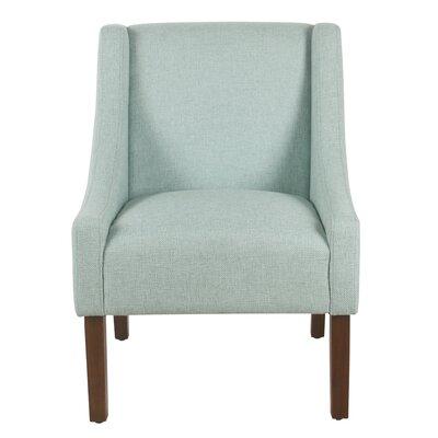 Lacrescenta Swoop Armchair Upholstery: Aqua Blue