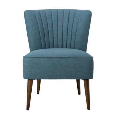 Dahlke Slipper Chair Color: Teal