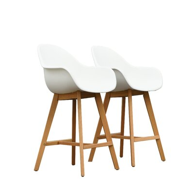 Cruce 27.5 Bar Stool Color: Light Teak
