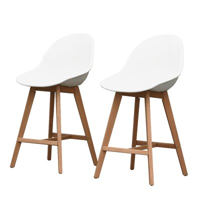 Cruce 27.5 Bar Stool Color: Brown