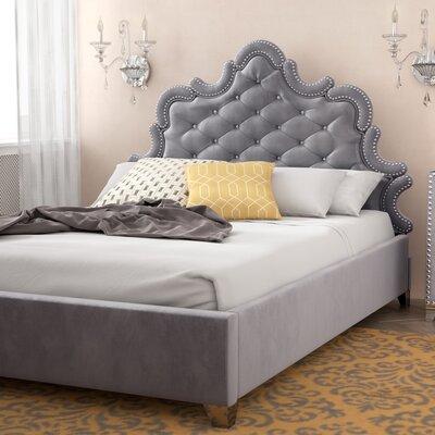 Spence Velvet Upholstered Platform Bed Size: Queen