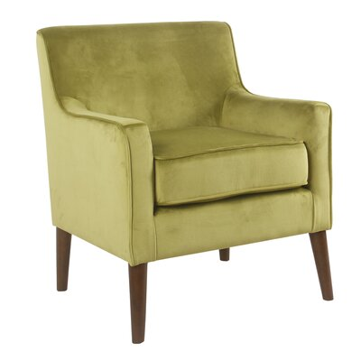 Cicero Street Armchair Upholstery: Green