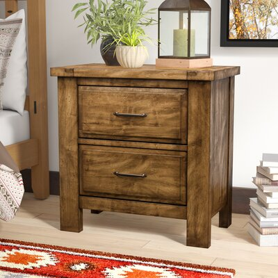 Fairfield 2 Drawer Nightstand Color: Antique Amish