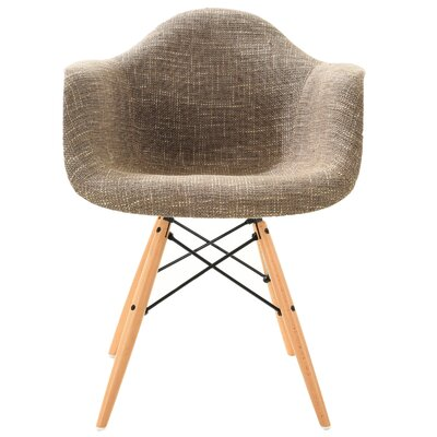 Quintus Padded Upholstered Dining Chair Upholstery Color: Taupe, Leg Color: Natural