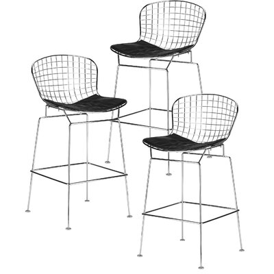Makris 25 Bar Stool Color: Black