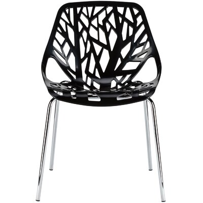 Horsley Birds Nest Side Dining Chair Color: Black