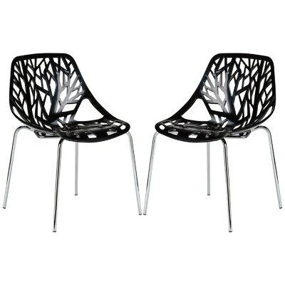Horst Birds Nest Side Dining Chair Color: Black