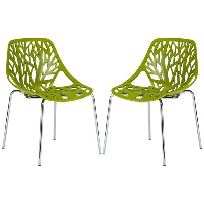 Horst Birds Nest Side Dining Chair Color: Green