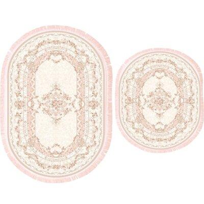 Ugarte 2 Piece Bath Rug Set Color: Pink