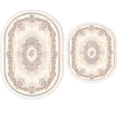 Vanwingerden 2 Piece Every Medallion Bath Rug Set Color: Gray