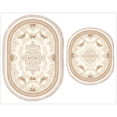Vanwagoner 2 Piece Bath Rug Set Color: Beige