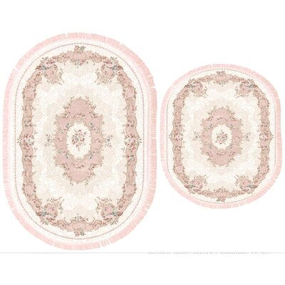 Vanwingerden 2 Piece Every Medallion Bath Rug Set Color: Pink