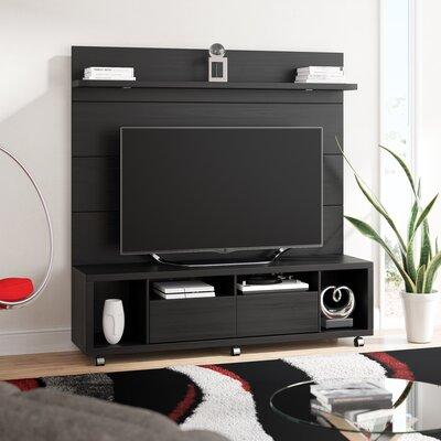 Julius 71 TV Stand Color: Black Gloss / Black Matte