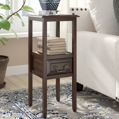 Gilson End Table With Storage Color: Brown Mahogany