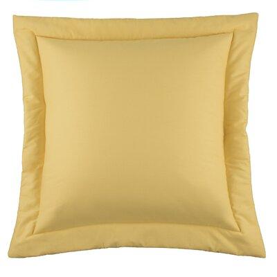 Kelford Solid Euro Sham Color: Yellow