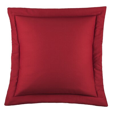 Kelford Solid Euro Sham Color: Red