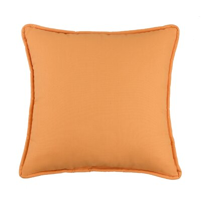 Kelford Solid Square Cotton Throw Pillow Color: Tangerine