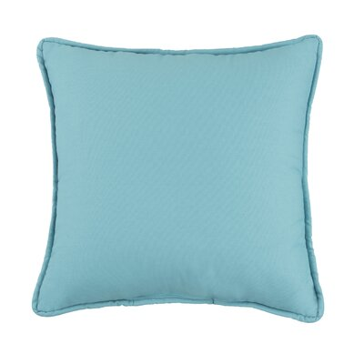 Kelford Solid Square Cotton Throw Pillow Color: Teal