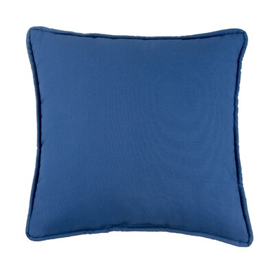 Kelford Solid Square Cotton Throw Pillow Color: Navy