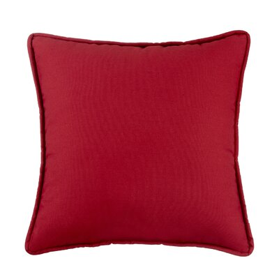 Kelford Solid Square Cotton Throw Pillow Color: Red