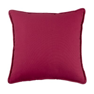 Kelford Solid Square Cotton Throw Pillow Color: Cerise