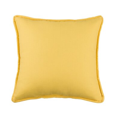 Kelford Solid Square Cotton Throw Pillow Color: Yellow