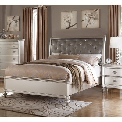 Leahy Upholstered Sleigh Bed Size: California King