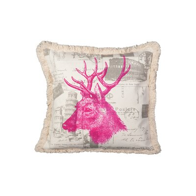 Traverso Elk Cotton Throw Pillow