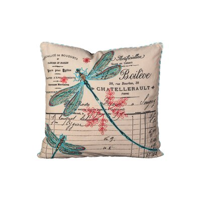 Stremme Dragonfly Cotton Throw Pillow