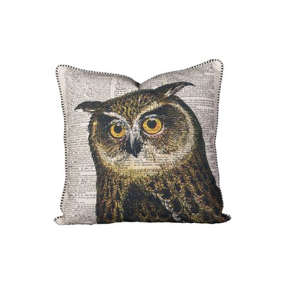Hindes Owl Cotton Throw Pillow