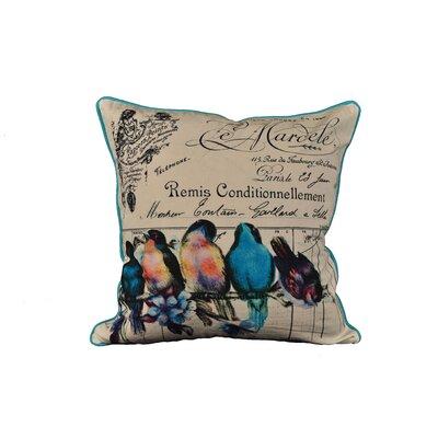 Lichfield Bird on Branch Cotton Throw Pillow