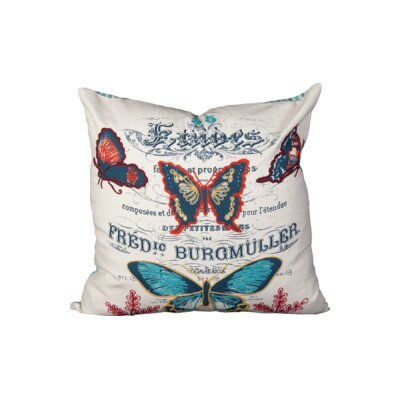 Perucca Butterfly Cotton Throw Pillow