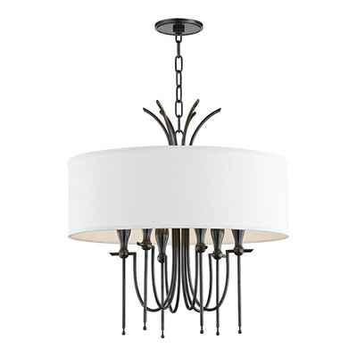 Leigh Woods 6-Light Drum Chandelier Finish: Old Bronze