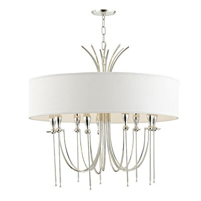 Leigh Woods 9-Light Drum Chandelier Finish: Polished Nickel