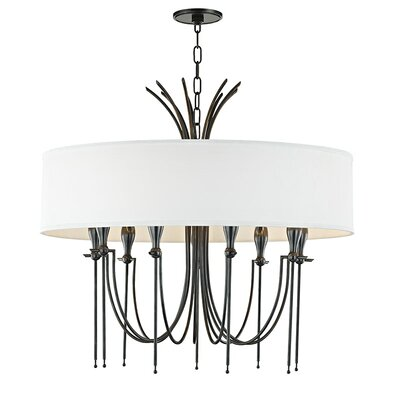 Leigh Woods 9-Light Drum Chandelier Finish: Old Bronze