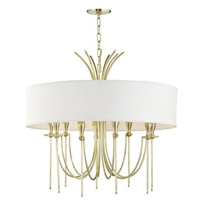 Leigh Woods 9-Light Drum Chandelier Finish: Aged Brass