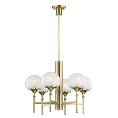 Leib 6-Light Candle-Style Chandelier Finish: Aged Brass