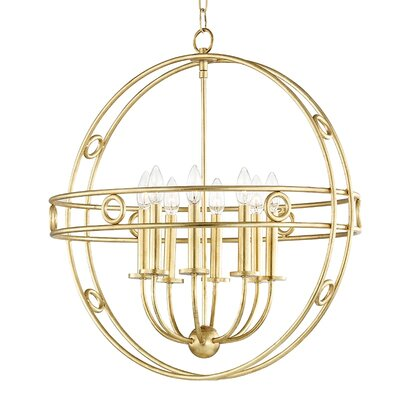 Lehto 8-Light Foyer Pendant Finish: Gold Leaf