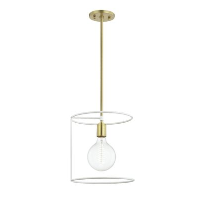 Humbert 1-Light Mini Pendant Finish: Aged Brass/White